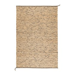 MELHOLT - Karpet, anyaman datar, buatan tangan alami/biru tua