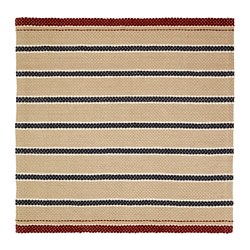 RÖDHUS - Rug, flatwoven, natural colour/multicolour, 190x190 cm