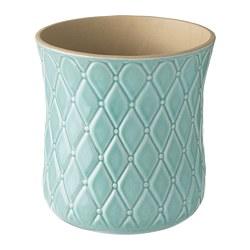 SPARRISKNOPP - Plant pot, light blue