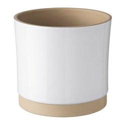 UPPVAKTA - UPPVAKTA, pot tanaman, putih/alami, 12 cm