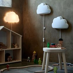 UPPLYST - LED wall lamp, cloud white