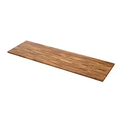 PINNARP - Permukaan meja dapur, kayu walnut/veneer