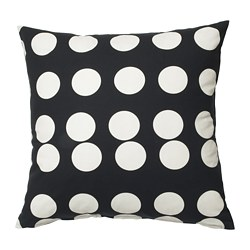 KLARASTINA - Cushion cover, black/white