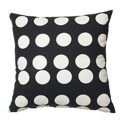 KLARASTINA - Sarung bantal kursi, hitam/putih