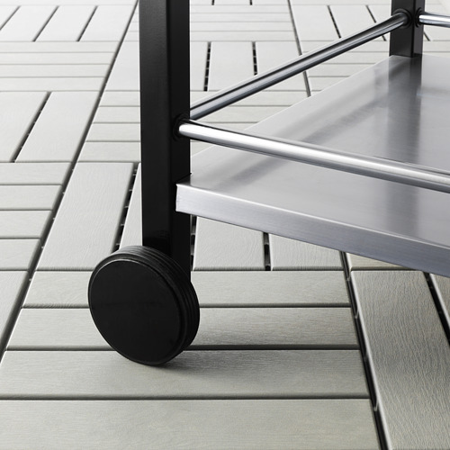 KLASEN - trolley, outdoor, stainless steel/brown stained   IKEA Indonesia - PE615506_S4