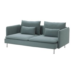 SÖDERHAMN - Sofa 3 dudukan, Finnsta toska
