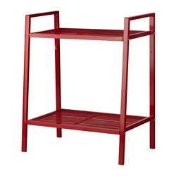 LERBERG - Shelf unit, red