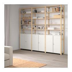IVAR - 3 bagian/kabinet/rak, kayu pinus/putih