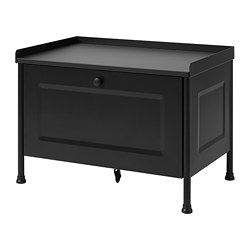 KORNSJÖ - Storage bench, black