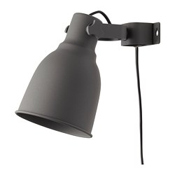 HEKTAR - Wall/clamp spotlight, dark grey