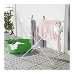 JÄLL - Drying rack, in/outdoor, white