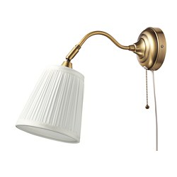 ÅRSTID - Wall lamp, brass/white