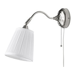ÅRSTID - Wall lamp, nickel-plated/white