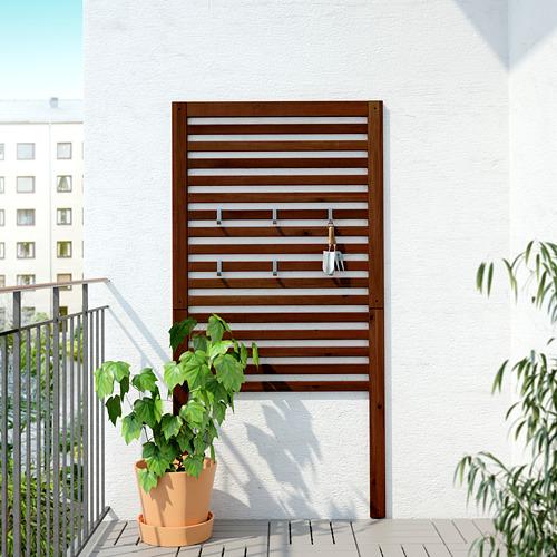 ÄPPLARÖ - panel dinding, luar ruang, diwarnai cokelat, 80x158 cm | IKEA Indonesia - PE619327_S4