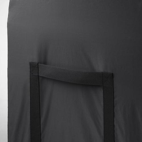 TOSTERÖ - kotak penyimpanan, luar ruang, hitam, 129x44x79 cm | IKEA Indonesia - PE719872_S4