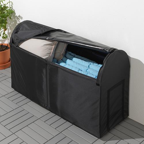 TOSTERÖ - kotak penyimpanan, luar ruang, hitam, 129x44x79 cm | IKEA Indonesia - PE720723_S4