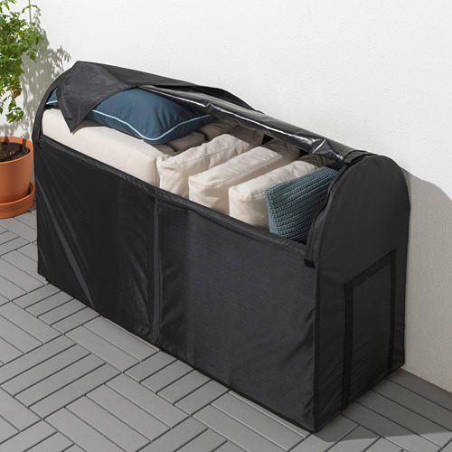 TOSTERÖ - kotak penyimpanan, luar ruang, hitam, 129x44x79 cm | IKEA Indonesia - PE720724_S4