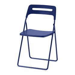 NISSE - Folding chair, dark blue-lilac