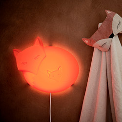 UPPLYST - LED wall lamp, fox orange