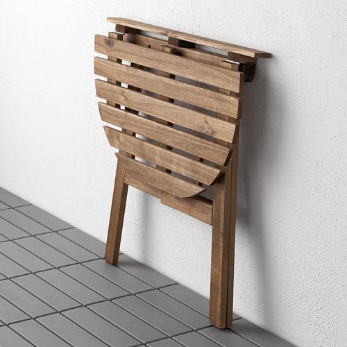 ASKHOLMEN meja dinding, luar ruang