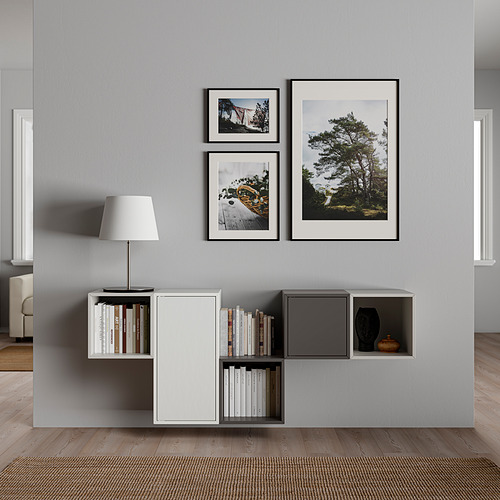 EKET - kombinasi kabinet dpasang di dnding, putih/abu-abu muda/abu-abu gelap, 175x35x70 cm   IKEA Indonesia - PE825989_S4
