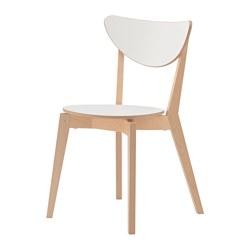 NORDMYRA - Kursi, putih/kayu birch