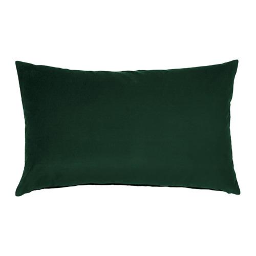 SANELA - sarung bantal kursi, hijau tua, 40x65 cm | IKEA Indonesia - PE682829_S4