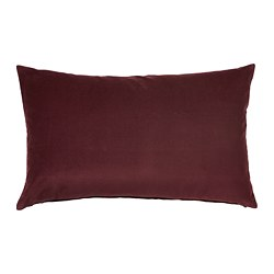 SANELA - Cushion cover, dark red