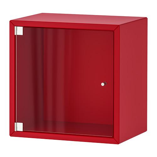 EKET wall cabinet with glass door