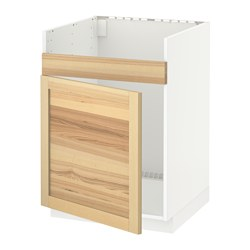 METOD - Dasar wstfl u wstfl single HAVSEN, putih/Torhamn kayu ash