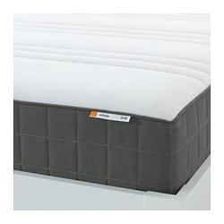 HÖVÅG - Pocket sprung mattress, extra firm/dark grey