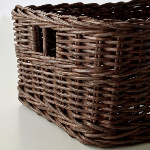 GABBIG - keranjang, cokelat tua, 25x29x15 cm | IKEA Indonesia - PE608347_S4