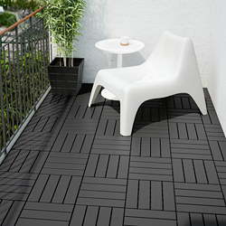 RUNNEN - Floor decking, outdoor, dark grey