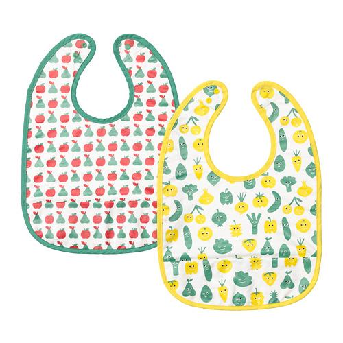 MATVRÅ - celemek bayi, pola buah-buahan/sayuran/hijau kuning | IKEA Indonesia - PE726501_S4