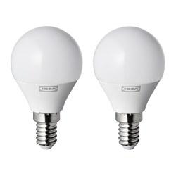RYET - LED bulb E14 250 lumen, globe opal white