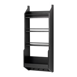 VADHOLMA - Wall shelf, black