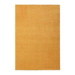 LANGSTED - Karpet, bulu tipis, kuning