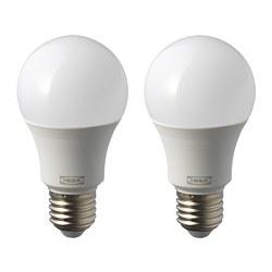 RYET - Bohlam LED E27 1000 lumen, bulat putih opal