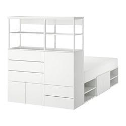 PLATSA - Rngka tmpt tdur dg 5 pintu + 5 laci, putih/Fonnes putih