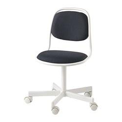ÖRFJÄLL - Kursi untuk meja anak, putih/Vissle abu-abu tua