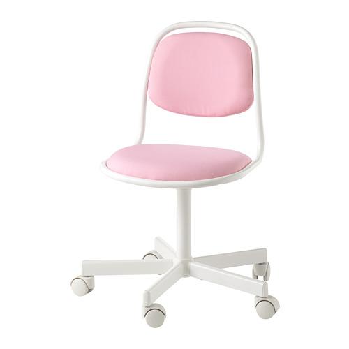 ÖRFJÄLL - kursi untuk meja anak, putih/Vissle merah muda | IKEA Indonesia - PE726625_S4
