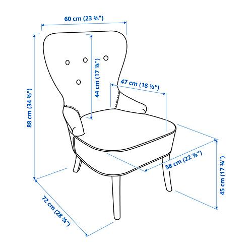 REMSTA - kursi berlengan, Hakebo abu-abu tua   IKEA Indonesia - PE783267_S4