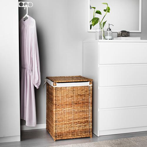 BRANÄS - keranjang laundry dg alas kain, rotan, 80 l | IKEA Indonesia - PE559974_S4