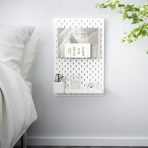 SKÅDIS - kombinasi papan berlubang, putih, 36x56 cm   IKEA Indonesia - PE640409_S4