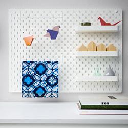 SKÅDIS - Kombinasi papan berlubang, putih