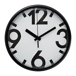 JYCKE - Wall clock, white/black