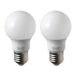 RYET - LED bulb E27 600 lumen, globe opal white