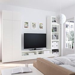 PLATSA - Kombinasi pnympnn/TV dg 4 pt+2 lc, putih/Fonnes Värd