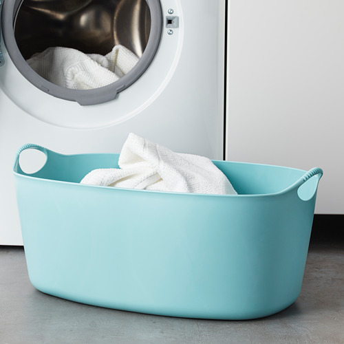 TORKIS - keranjang laundry fleksi, d/l ruang, biru, 35 l | IKEA Indonesia - PE654313_S4