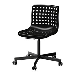 SKÅLBERG/SPORREN - Swivel chair, black